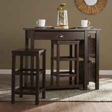 Beals 3 Piece Counter Height Pub Table Set