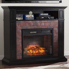 Kurtz Faux Brick Media Infrared Electric Fireplace