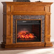 Gaines Simulated Stone Media Center Infrared Electric Fireplace