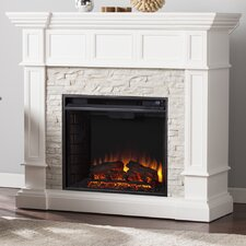Frazier Faux Stone Corner Convertible Electric Fireplace