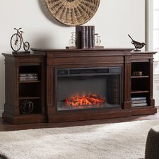 Reeder Widescreen and Bookcases in Espresso Electric Fireplace
