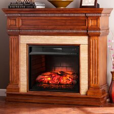 Cantrell Stone Look Infrared Electric Fireplace