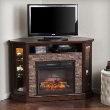 Rupert Faux Stone Corner Convertible Infrared Electric Fireplace