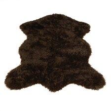 Animal Pelt Brown Area Rug