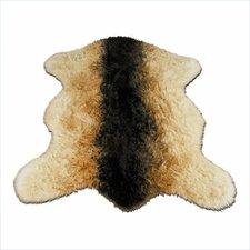 Animal Beige/Black Goat Area Rug