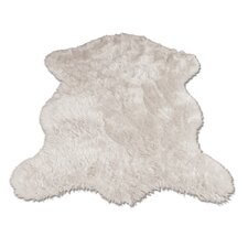 Polar Bear Pelt Faux Fur Shag Area Rug