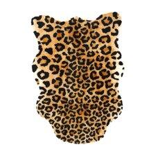 Animal Black/Brown Leopard Area Rug