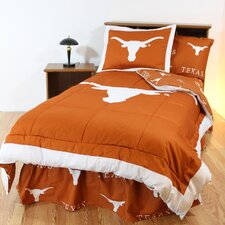 NCAA Texas Bed in a Bag Set - With White Sheets