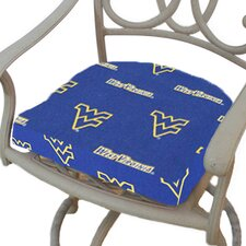 NCAA West Virginia Outdoor Dining Chair Cushion