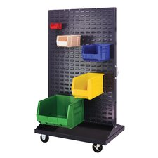 Mobile Double Sided Louvered Rack