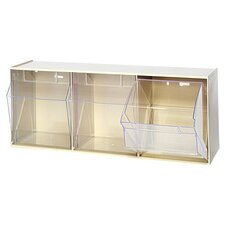 3-Compartment Tip-Out Bin