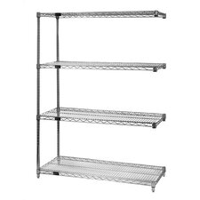 Small Q-Stor Chrome Wire Shelving Add-On Unit