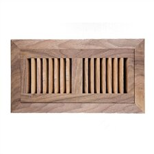 "6.75"" x 12.25"" American Walnut Wood Flush Mount Vent Cover"