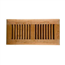 "4"" x 10"" American Cherry Wood Self Rimming Vent Cover"