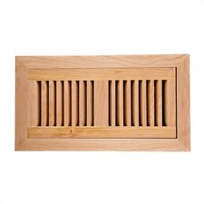 "6.75"" x 14.5"" American Cherry Wood Flush Mount Vent Cover"