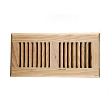 "5.6"" x 11.5"" Hickory Wood Self Rimming Vent Cover"