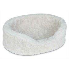 Plush Lounger Natural Berber Dog Bed