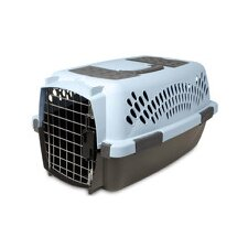 Doskocil Small Fashion Pet Carrier in Blue Air and Coffee Ground