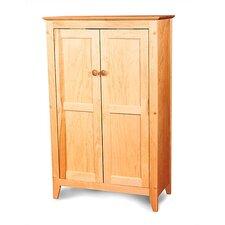 Hardwood Flat Panel 2 Door Cabinet