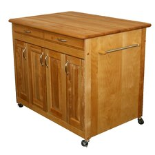 Kitchen Island with Butcher Block Top