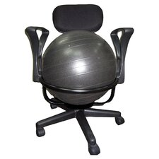 Low-Back Deluxe Exercise Ball Chair