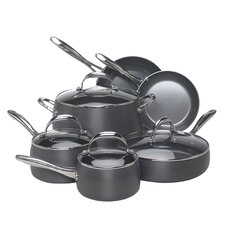 Hard-Anodized Aluminum 10 Piece Cookware Set