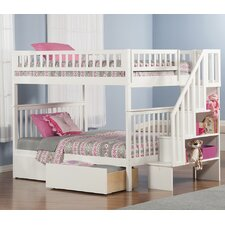 Woodland Full over Full Bunk Bed with Storage