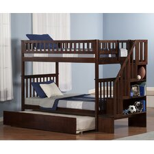 Woodland Twin over Twin Bunk Bed with Trundle