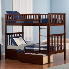 Woodland Twin over Twin Bunk Bed with Storage