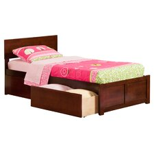Orlando Extra Long Twin Panel Bed with Storage