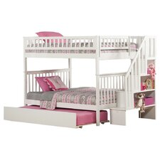 Woodland Full over Full Bunk Bed with Trundle