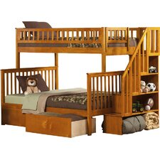 Woodland Twin over Full Bunk Bed with Storage