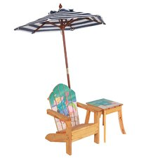 Winland Sand Pail Outdoor Wood Table & Chair Set in Natural