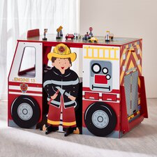 Kids Fire Engine Desk and Chair Set