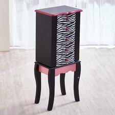 Teamson Kids Fashion Prints Zebra Jewelry Armoire with Mirror