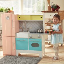 Playful Bubble Gum Wooden Play Kitchen
