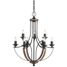 Corbeille 9 Light Candle Chandelier