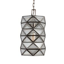 Harambee 1 Light Mini Pendant with Seeded Water Glass