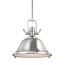 Stone Street 1 Light Bowl Pendant