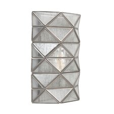 Harambee 1 Light Wall Sconce with Seeded Water Glass