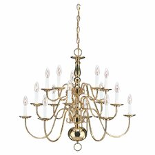 Traditional 15 Light Chandelier