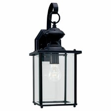 Classic Black 1 Light Outdoor Wall Lantern