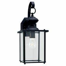 Classic Black 1 Light Outdoor Wall Lantern