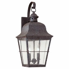 Colonial Styling 2 Light Outdoor Wall Lantern