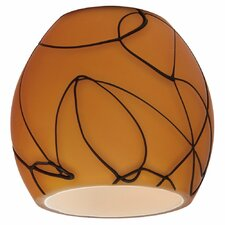 "2.88"" Ambiance Transitions Glass Bowl Pendant Shade"