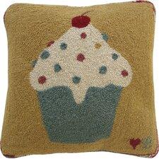 Cupcakes Wool Throw Pillow