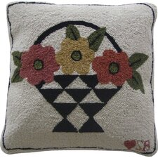 A Day For Flowers Wool Throw Pillow