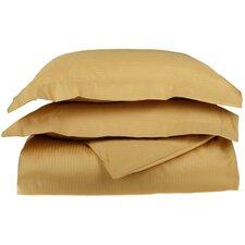 1000 Thread Count Premium Long-Staple Combed Cotton 3 Piece Stripe Duvet Cover Set