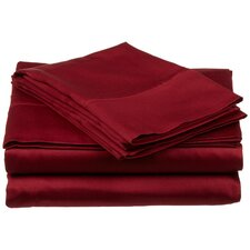 300 Thread Count Premium Long-Staple Combed Cotton Solid Queen Waterbed Sheet Set