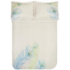 Peacock 3 Piece Duvet Set